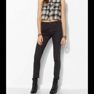 Bdg courtshop side zippered high waisted jeans